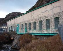 Exterior view of the Petty Harbour Hydro-Electric Generating Station, December 2005; HFNL 2005