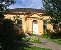 Eastern entrance to the Free Meeting House - 2004.; Moncton Museum