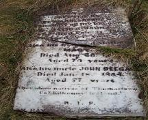 Head stone in memory of Irish settlers to Renews, NL; HFNL/Andrea O'Brien 2005
