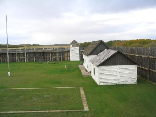 Reconstructed Buildings Inside the Palisade