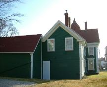 Rear elevation of Senator John Lovitt House, Yarmouth, NS, 2006.; Heritage Division, NS Dept. of Tourism, Culture and Heritage, 2006