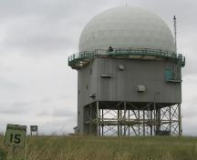 Western Elevation of the Alsask Radar Dome, 2004.; Government of Saskatchewan, Michael Thome, 2004