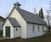 Front and side facades of the Church; Government of Saskatchewan, Michael Thome, 2005.