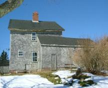 Rear elevation of the Ebenezer Corning, Jr. House, Yarmouth, NS, 2006.; Heritage Division, NS Dept. of Tourism, Culture & Heritage, 2006