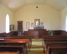 Interior view of church, 2005.; Government of Saskatchewan, J. Kasperski, 2005.