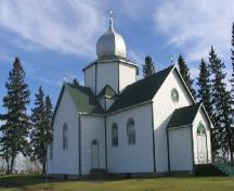 View of the church, 2005.; Government of Saskatchewan, J. Kasperski, 2005.