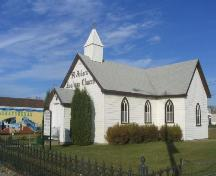 Front and side view of church, 2005.; Government of Saskatchewan, J. Kasperski, 2005.