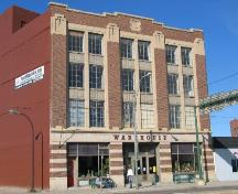 Front façade of the Fairbanks-Morse Building, 2005.; City of Saskatoon, Kathlyn Szalasznyj, 2005.