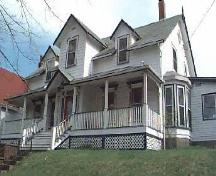 Thurso House, Gothic Revival style, gabled dormers, side projections, Dartmouth, Nova Scotia, 1997.; HRM Planning and Development Services, Heritage Property Program, 1997.