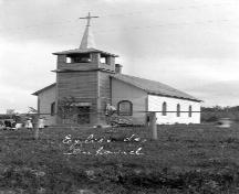 The Catholic Church of St. Thomas Provincial Historic Resource, near Duhamel (date unknown); Missionary Oblates, Grandin Archives at the Provincial Archives of Alberta, OB.1942, n.d.