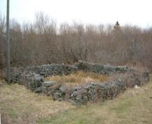 A southwest view of the Port Maitland Cattle Pound, Port Maitland, Yarmouth County, NS, 2006.; Heritage Division, NS Dept. of Tourism, Culture & Heritage, 2006
