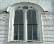 A closer look at one of the windows of the Chebogue Meeting House, Rockville, Yarmouth County, NS, 2006; Heritage Division, Dept. of Tourism, Culture & Heritage, 2006