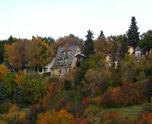 Frank P. Martin House and surrounding landscape overlooking the South Saskatchewan River, 2005.; City of Saskatoon, Kathlyn Szalasznyj, 2005.