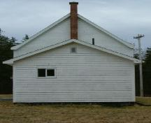 The rear elevation of the Greenville African Baptist Church, Greenville, Yarmouth County, NS, 2006.; Heritage Division, NS Dept. of Tourism, Culture & Heritage, 2006
