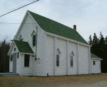 Southeast perspective of the Greenville African Baptist Church, Greenville, Yarmouth County, NS, 2006.; Heritage Division, NS Dept. of Tourism, Culture & Heritage, 2006