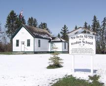 The Verdun School Provincial Historic Resource, New Norway (April 2003); Alberta Culture and Community Spirit, Historic Resources Management Branch, 2003