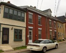 Showing context of building with other row houses; City of Charlottetown, Natalie Munn, 2005