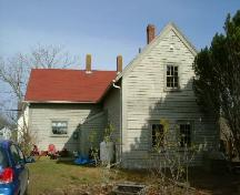 Rear elevation of the facade of the Richard Williams Jr. House, Milton Highlands, Yarmouth County, NS, 2006; Heritage Division, NS Dept. of Tourism, Culture & Heritage, 2006