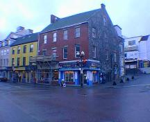 Exterior view of Yellow Belly Corner, 288-300 Water Street, St. John's, NL.; HFNL 2005