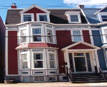Exterior view of the front facade of 018 Gower Street, St. John's.  Photo taken April 11, 2006; HFNL/ Deborah O'Rielly 2006.