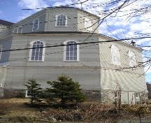 Rear elevation, Sainte Marie Church, Church Point, NS, 2004.; Heritage Division, NS Dept. of Tourism, Culture and Heritage, 2004.
