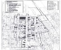 Map of Collingwood showing legal boundaries of the Heritage Conservation District; Town of Collingwood, 2002