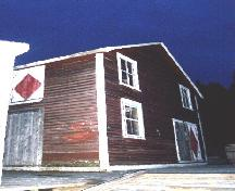 Exterior view of Ford fish store, Ford Property, on wharf, Jackson's Arm, NL, 2005/11.; HFNL/Lara Maynard 2005.