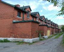 Churchfield Barracks, rear elevation, Halifax, Nova Scotia, 2006.; Heritage Division, NS Dept. of Tourism, Culture and Heritage, 2006.