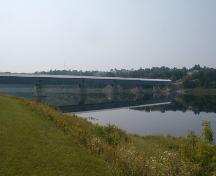 Panoramic view of the bridge, river and immediate landscape; PNB 2004