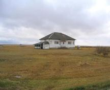 View northwest at front elevation of school, 2005.; Government of Saskatchewan, Marvin Thomas, 2005.
