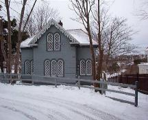 Exterior view of Sunnyside Gatehouse located 060 Circular Road, St. John's, NL.  Photo showing southern facade, picture taken January 31, 2006.; HFNL/ Deborah O'Rielly 2006.
