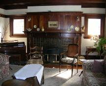 Mackie Lake House interior (living room), 2006; Heritage Branch