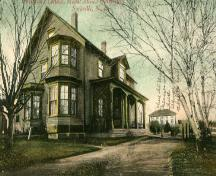Cottage after bays added in 1903; Phyllis Stopps