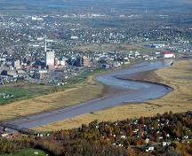 "The ""Bend"" in the Petitcodiac River defined the growth of Moncton's downtown by being a natural site for settlement, industry and tourism.  ; Moncton Times & Transcript"
