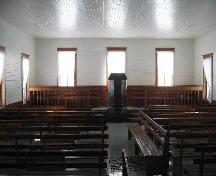 Interior of the Church of Swift Current Mennonite Heritage Village.; Clint Robertson, 2006.