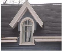 Showing detail of wall dormer window; Province of PEI, 2006