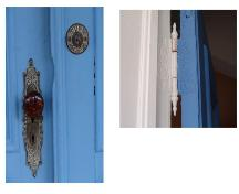 Showing original Victorian hardware on front door; Province of PEI, 2005