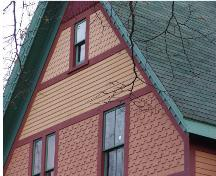 Showing detail of alternating shingle patterns; Province of PEI, 2005