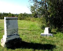Close-up of burial markers in cemetery, 2005.; City of Saskatoon, Kathy Szalasznyj, 2005.