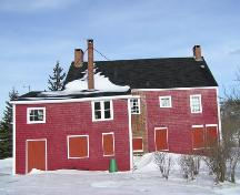 Ward House, Rear Elevation; Heritage Division, Nova Scotia Department of Tourism, Culture and Heritage, 2004
