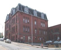 Halifax Academy, Halifax, NS, rear elevation, 2004.; Heritage Division, Nova Scotia Department of Tourism, Culture and Heritage, 2004.