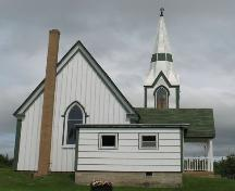 Side Elevation near cemetry, Christ Church Anglican Church of Canada, Maitland, Lunenburg County, Nova Scotia, 2006.; Heritage Division, Nova Scotia Department of Tourism, Culture and Heritage, 2006.
