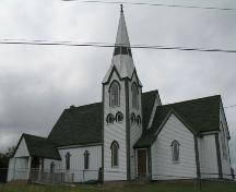 Front Elevation of Christ Church Anglican Church of Canada, Maitland, Lunenburg County, Nova Scotia, 2006.; Heritage Division, Nova Scotia Department of Tourism, Culture and Heritage, 2006.