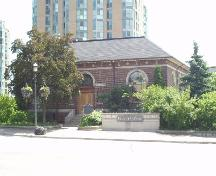 North facade of former Barrie Public Library, 2004; City of Barrie, 2004