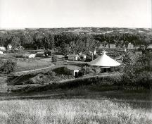 Archival photo by Henry Kalen of Qu'Appelle Valley with John Nugent Studio in foreground, 1960; Clifford Wiens, 1960