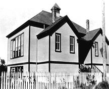 Exterior view of the Clayburn School, ca. 1925; MSA Museum Society, #7708