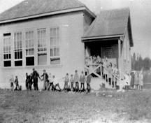 Early exterior view of Clayburn School, ca. 1910; MSA Museum Society, #P8210_1910