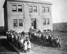 View of the laundry building at the Lacombe Home site, Calgary (circa 1918); Glenbow Archives, NA-3482-31