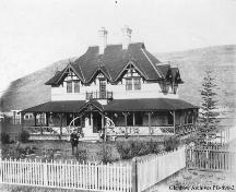 The William Roper Hull Ranche House Provincial Historic Resource, Calgary (circa 1897); Glenbow Archives, PB-896-2
