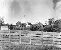 Quality Hill, from south of the railway (note the Dr. Henry George Residence at the far left) (1904); Glenbow Archives, NA-103-79